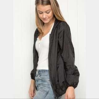 brandy melville black windbreaker
