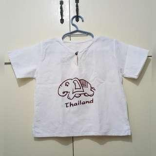 GA108 Thailand Linen Cotton Blouse for Girls 6-7 (see pics for flaw)