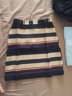 Stripes Skirt Rok Garis