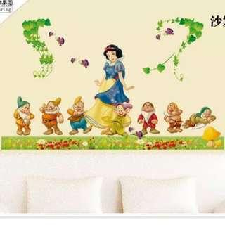 🚚 120X60cm snow white princess wall decal sticker