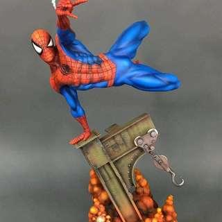 Sideshow Custom Repainted Spidey Spider-Man Spiderman Premium Format Exclusive statue by Kenny A