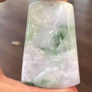 Jade Pendant Mountain Water 山水