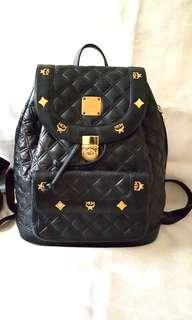 MCM Black Quilted Leather Star