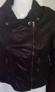 Bershka Biker Leather Jacket