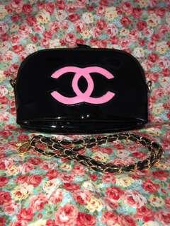 Exquisite Chanel Precision Makeup Sling Pouch Pink