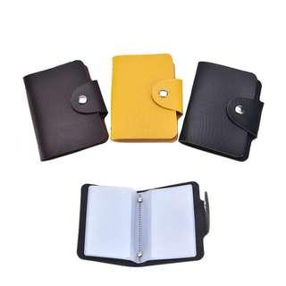 24 Slot Card Holder Wallet Credit Card PU Leather Holder