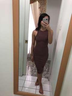 Pretty Little Thing Mauve Dress - size 4
