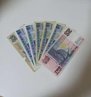 1pcs Z1 Replacement Banknote. Total 7pcs Face Value $8.