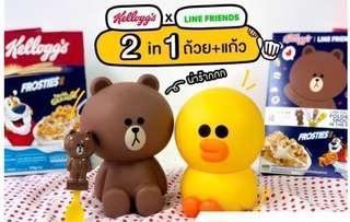 Instocks: Line friends cereal container and spoons available
