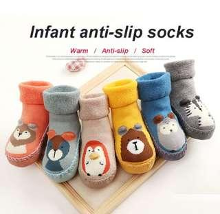 🚚 ✔️ 2pairs Set 🌟PM for price🌟 🍀Baby Boy Girl Slip-resistant Sock Shoes🍀