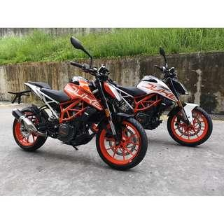 2018 KTM DUKE 390 FOR SALE! BOTH COLOURS AVAILABLE!