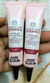 Preloved / New/ The Body Shop Vitamin E Eye Cream 15ml (TBS)