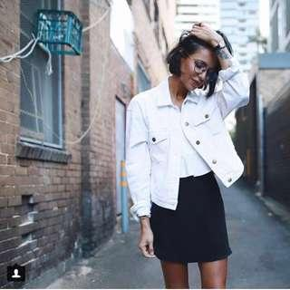 Primark White Denim Jacket