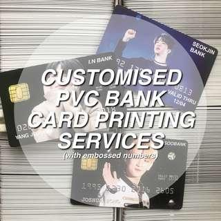 CUSTOMISED PVC BANK CARDS