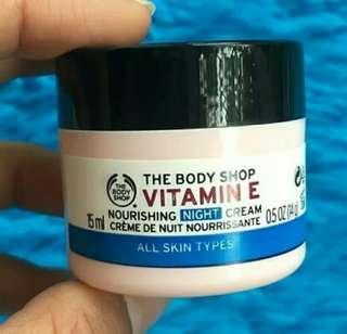 Preloved/ New/ The Body Shop Vitamin E Night Cream 15ml