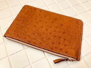 Ostrich Pouch (Hand-stitched)