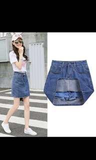 🚚 Denim Skirt with safety shorts