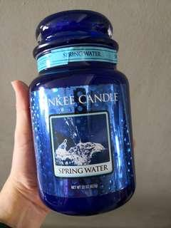 Yankee candle spring water. Limited edition.