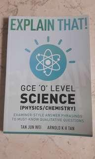 O level Pure Science (physic/chemistry) guide book