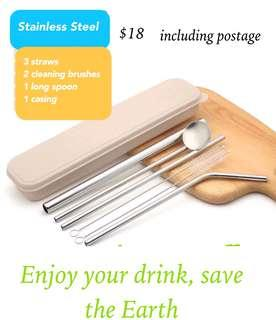🚚 Stainless steel straws