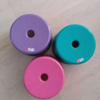 PVC Colour Stool, Circular