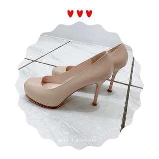🚚 【在韓國百貨公司購入的正韓貨】極美亮膚色細高跟鞋 穿上後立刻延長腿的長度