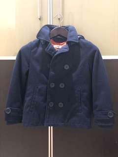 Pre loved H&M navy blue coat for boy 9-10 Y