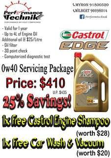 3 X CASTROL EDGE 0W40 SERVICING
