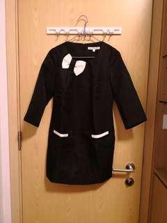 全新名牌黑色連身裙