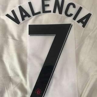 Manchester United 12/13 Champions League VALENCIA 7 Nameset