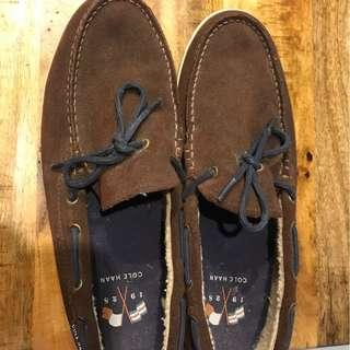 Cole Haan Nantucket Faux-Fur-Lined Suede Loafer