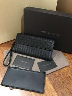 🚚 BNIB Bottega Veneta Long Wallet in Black