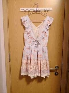 全新 Liz Lisa粉藍花花連身裙