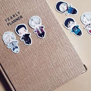 Yuri on ice anime sticker pack