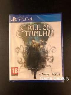 全新 PS4 Call of Cthulhu 克蘇魯的呼喚 中英文版