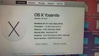 "Macbook Air 11"" 2015 i5 with MS Orig MS Office"