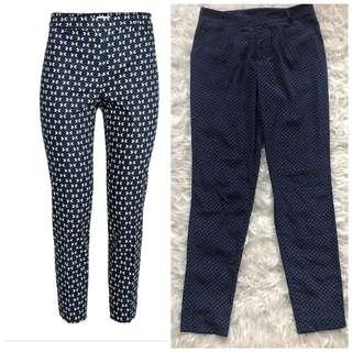 Preloved polyester H&M patterned trousers