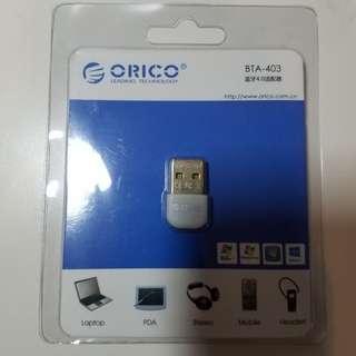 全新包郵 Orico USB 4.0 藍芽適配器 藍牙配對 藍牙發射 藍牙接收 Bluetooth USB Dongle 電腦 藍芽