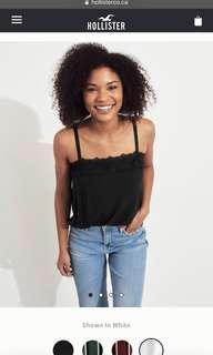 Hollister Black sleeveless top