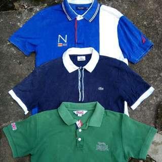 Sepaket polo shirt atau kaos kerah lacoste lonsdale supreme