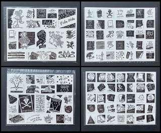 100%全新正貨 中古懷舊經典絶版 七喜 7-UP Fido Dido 貼紙 Sticker 一套4款