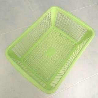 Preloved Lime Green A4 Basket