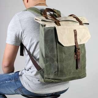 🚚 Waxed Canvas Backpack