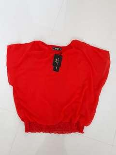 #Blessing: BN Bat Wing Red Top
