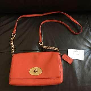 BN Coach Leather Crossbody AUTHENTIC