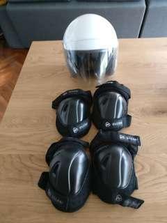 CDC Helmet and Knee/Elbow Pads