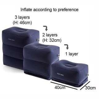 Inflatable footrest