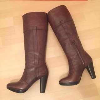 🈹 啡色皮高跟長靴👢Tall Leather Boots (Knee High)