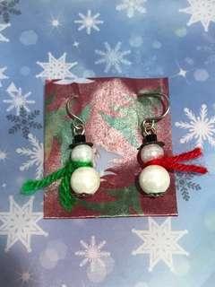 Swinging Snowmen earrings (C)
