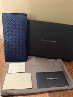 🚚 BNIB Bottega Veneta Men Long Wallet in Dark Blue
